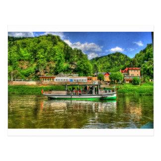 Boots-Reise auf dem Fluss Elbe Postkarten