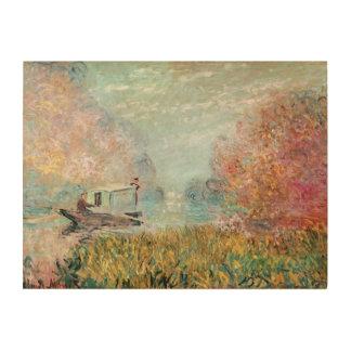 Boots-Studio Claude Monets | auf der Seine Holzdruck