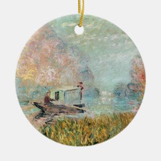 Boots-Studio Claude Monets | auf der Seine Rundes Keramik Ornament