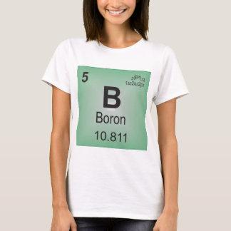 Bor-einzelnes Element des Periodensystems T-Shirt