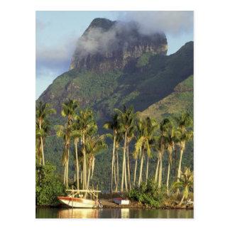 Bora Bora, Französisch-Polynesien-Ufergegendszene Postkarte