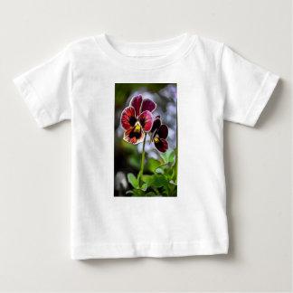 Bordeauxpansy-Blumen-Duo Baby T-shirt
