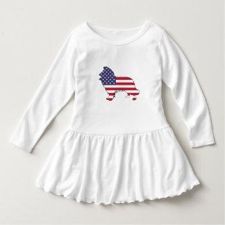 """Border-Collie - """"amerikanische Flagge """" Kleid"""