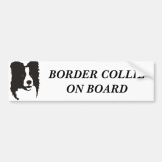 Border-Collie an Bord Autoaufkleber