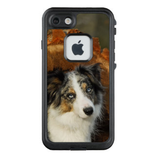 Border-Collie blaues Merle LifeProof FRÄ' iPhone 8/7 Hülle