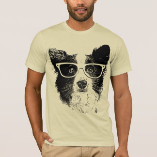 Border Collie glasses Dog hipster T-Shirt