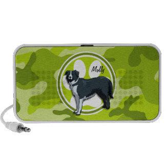 Border-Collie hellgrüne Camouflage Tarnung Laptop Speaker