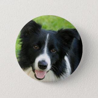 Border-Collie-Hund addieren Text-Haustier Runder Button 5,1 Cm