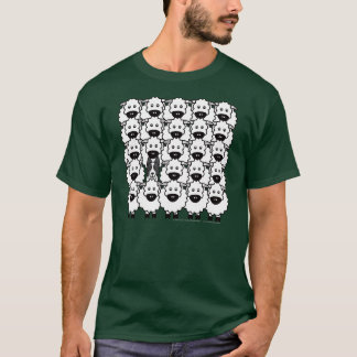 Border-Collie in den Schafen T-Shirt