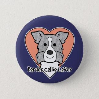 Border-Collie-Liebhaber Runder Button 5,7 Cm