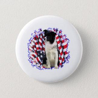 Border-Collie-Patriot Runder Button 5,1 Cm