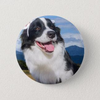 Border-Collie Runder Button 5,7 Cm