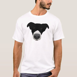 Border-Collie-Starren-Welpe T-Shirt