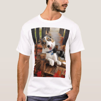 Border-Collie Tee~Blue Merle Welpe T-Shirt