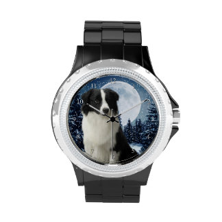 Border-Collie-Uhr