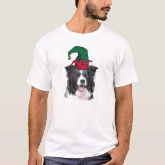 Border-Collie-Weihnachten Tee~Elf T-Shirt
