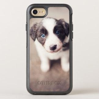 Border-Collie-Welpe mit blauen Augen OtterBox Symmetry iPhone 8/7 Hülle