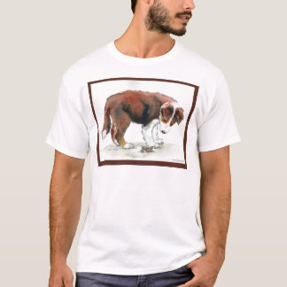 Border-Collie-Welpe u. Heuschrecke T-Shirt