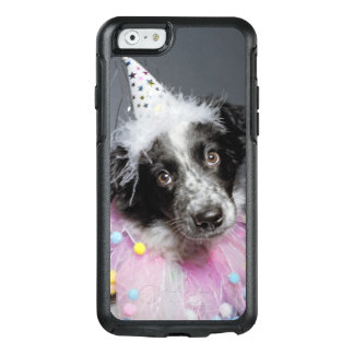 Border-Collie-Welpen-tragender Hut OtterBox iPhone 6/6s Hülle