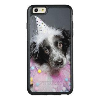 Border-Collie-Welpen-tragender Hut OtterBox iPhone 6/6s Plus Hülle