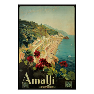 Borgoni Amalfi Kampanien Italien Plakate