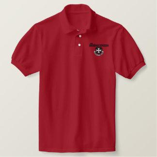Borinqueneers Polo-Shirt (schwarze Stickerei) Besticktes Polo Shirt