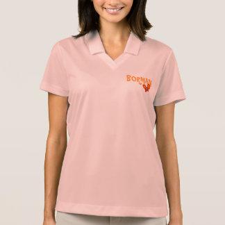 Borman orange Schmetterlings-Entwurf Polo Shirt