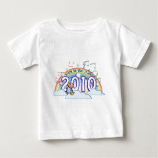 born in the year 2010 2011 angel rainbow music baby t-shirt