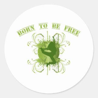 born to be free runder aufkleber