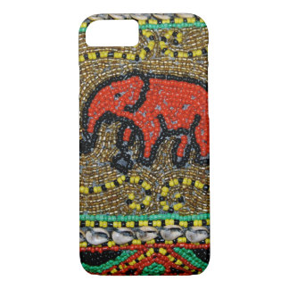 Borneo bördelte Elefant-Kunst iPhone 8/7 Hülle