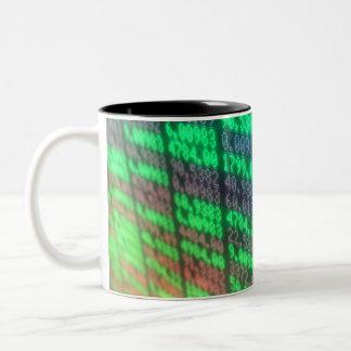 Börse-Digital-Brett Zweifarbige Tasse
