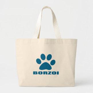 BORZOI-HUNDEentwürfe Jumbo Stoffbeutel