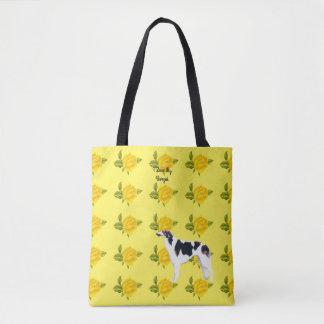 Borzoi und gelbe Rosen [MED.] Tasche