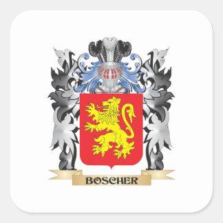 Boscher Wappen - Familienwappen Quadrat-Aufkleber