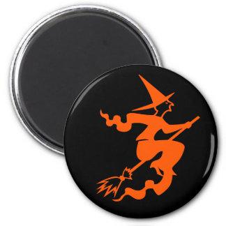 Böse Hexe auf einer Runder Magnet 5,7 Cm