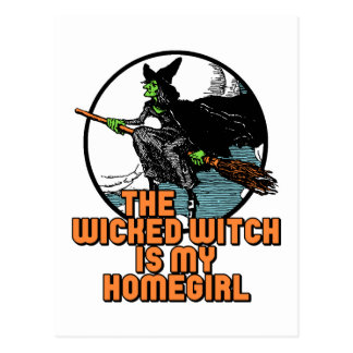Böse Hexe Postkarte