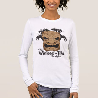 Bösen Tiki Bar Ladys angepasste lange Hülse Langarm T-Shirt