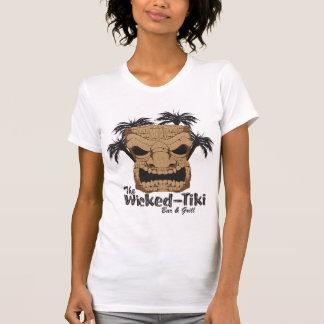 Bösen Tiki Bar Ladys angepasster Twofer T - Shirt
