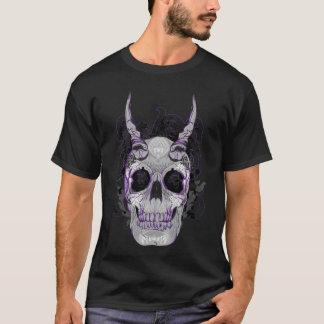 Böser gehörnter Stammes- Schädel-T - Shirt