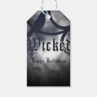 Böser Halloween-Party-Schwarz-Krähen-Vogel Geschenkanhänger