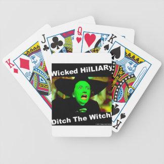 Böser Hillary-Abzugsgraben die Hexe Bicycle Spielkarten