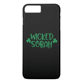 Böser Sobah Handy-Fall, schwarzer Hintergrund iPhone 8 Plus/7 Plus Hülle