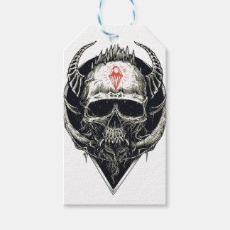 Böser Viking-Diamant-Schädel Geschenkanhänger