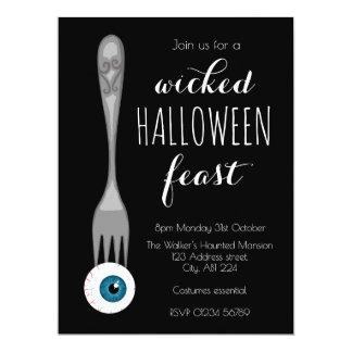 Böses Halloween-Fest-Party Einladungsschwarzes Karte