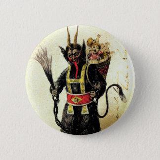Böses Krampus beängstigendes Runder Button 5,7 Cm