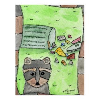 Boshafter Racoon Postkarte