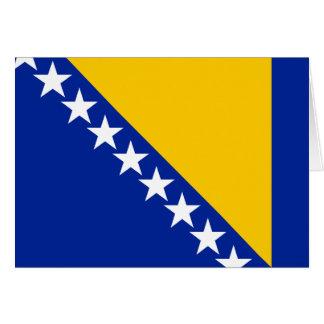 Bosnien-Flagge Mitteilungskarte