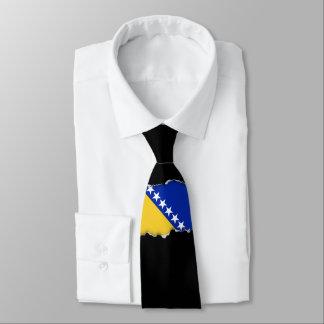Bosnien-Flagge Krawatte
