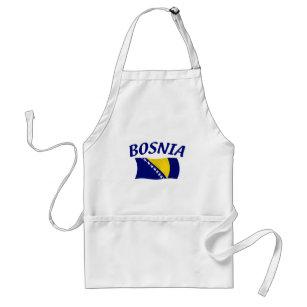 Bosnien-Flagge Schürze