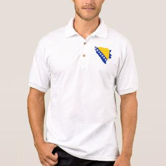 Bosnien und Herzegowina zeichnen Flagge auf Polo Shirt